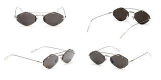 Set Vintage Sunglasses isolated on white background. Collection fashion retro eye glasses.  royalty free stock images