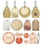 Set of vintage tags stock illustration
