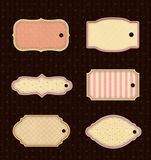 Set vintage tags Royalty Free Stock Images