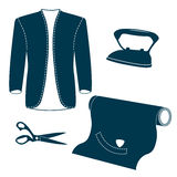 Set of vintage tailor design elements. Royalty Free Stock Images