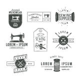 Set of vintage tailor labels, emblems and design Royalty Free Stock Photography