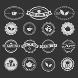 Set of vintage tea logos Stock Photography