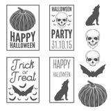 Set of vintage templates label, badge, emblem or Stock Images