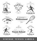 Set of vintage tennis labels Royalty Free Stock Images