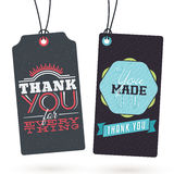 Set of Vintage Thank You Tags Stock Photography