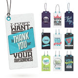 Set of Vintage Thank You Tags Stock Image
