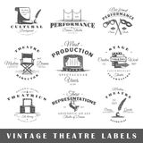 Set of vintage theatre labels Stock Images