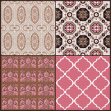 Set of Vintage Tiles Backgrounds Royalty Free Stock Photos
