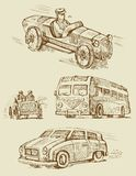 Set of vintage transport Royalty Free Stock Images