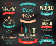 Set of vintage Travel badges and labels. Holiday Elements Icons. Travel and Tourism. Vector Stock Images