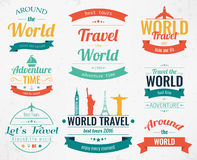 Set of vintage Travel badges and labels. Holiday Elements Icons. Travel and Tourism. Vector Stock Photos