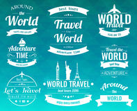 Set of vintage Travel badges and labels. Holiday Elements Icons. Travel and Tourism. Vector Royalty Free Stock Photo