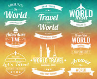 Set of vintage Travel badges and labels. Holiday Elements Icons. Travel and Tourism. Vector Stock Photography