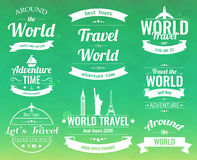 Set of vintage Travel badges and labels. Holiday Elements Icons. Travel and Tourism. Vector Stock Image