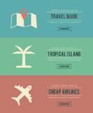 Set of vintage travel related banners Stock Photography