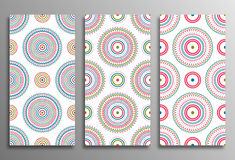 Set vintage universal different seamless eastern patterns (tilin Royalty Free Stock Photography