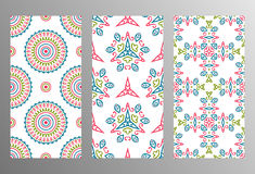 Set vintage universal different seamless eastern patterns (tilin Stock Photography