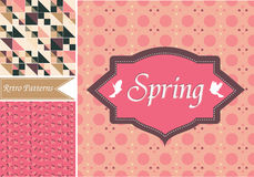Vintage Valentine Patterns Stock Photo