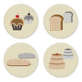 Set of vintage variety bakery badges Stock Images