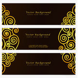 Set vintage vector abstract banner Stock Image