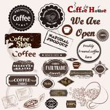 Set of vintage vector coffee badges and labels Royalty Free Stock Photo