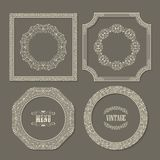 Set of vintage vector frames borders Stock Photography