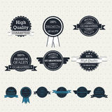 Set of vintage vector labels. Set of retro labels for your design Royalty Free Stock Photography