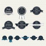 Set of vintage vector labels. Set of retro labels for your design royalty free illustration