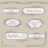 Set of vintage vector labels, frames, borders Stock Images