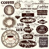 Set of vintage vector  labels, headlines and badges Stock Image