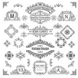 Set of vintage  vector line elements Royalty Free Stock Image