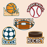 Set of vintage vector sport labels Royalty Free Stock Photo