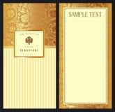 Set of vintage vector vertical invitation Stock Photo