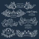 Set of Vintage Victorian ornaments. Wedding design Stock Photo