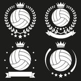 Set of Vintage Volleyball Club Badge and Label Stock Photos