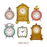Set of vintage watch Stock Photos
