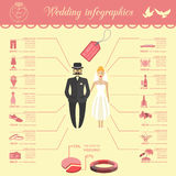 Set of vintage wedding, fashion style and travel infographic ele Stock Photo