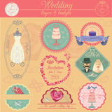 Set of vintage wedding and wedding fashion style logos. Vector l Stock Image