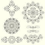 Set of vintage whorls. Royalty Free Stock Photo