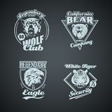 Set of vintage wild animal retro logos Stock Afbeeldingen