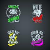 Set of vintage wild animal retro logos gekleurd Royalty-vrije Stock Fotografie
