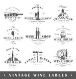 Set of vintage wine labels Stock Photo
