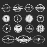 Set of vintage wine Logo Royalty Free Stock Photography