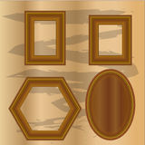 Set vintage wooden frames design vector illustration. Style Royalty Free Stock Photography