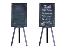 Set of vintage wooden menu boards isolated Royalty Free Stock Images