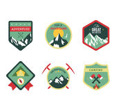 Set of vintage woods camp badges and travel logo Royalty Free Stock Images