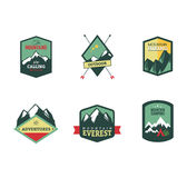 Set of vintage woods camp badges and travel logo Royalty Free Stock Photos