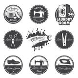 Set of vintage workshop emblems Royalty Free Stock Photography