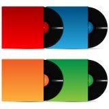 Set of vinyl plates in the varicoloured packing Stock Photo