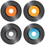 Set vinyl records Stock Photo